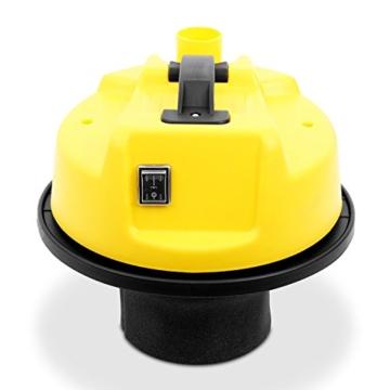 Klarstein IVC-30 Nass-Trockensauger Industriesauger mit Zubehör (Beutellos, 30 Liter Edelstahl Behälter, 1800 Watt Saugleistung, regulierbare Saugstärke) silber-gelb -