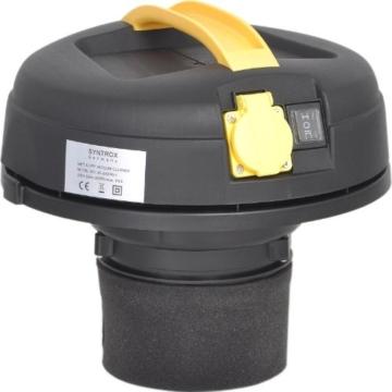 Syntrox Germany 2000 Watt 20 Liter Staubsauger Edelstahl Industriesauger mit Steckdose -