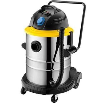 Syntrox Germany 50 Liter 2500 Watt Edelstahl Industriesauger mit Steckdose -